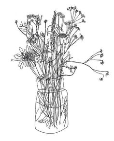 flower jar tattoo design