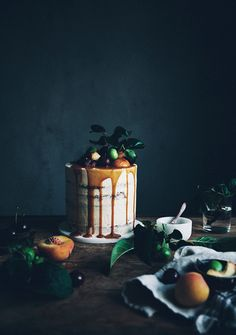 https://flic.kr/p/vJnghG | Brown butter chocolate chip cake with bourbon caramel frosting