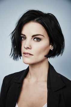 Actress Jaimie Alexander of 'Blindspot' poses for a portrait at the Getty Images Portrait Studio Powered By Samsung Galaxy At Comic-Con International 2015 at Hard Rock Hotel San Diego on July Get premium, high resolution news photos at Getty Images Short Shag Hairstyles, Girls Short Haircuts, Short Hairstyles For Women, Hairstyles 2018, Bob Hairstyle, Short Dark Hair, Short Hair Cuts, Short Hair Styles, Short Wavy