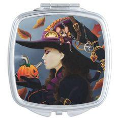 Steampunk Pumpkin Witch Mirror For Makeup