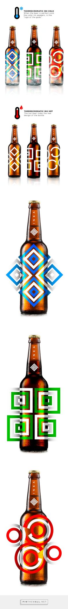 Inka Premium Beer (Concept) by JP Branding. Another great example of how colours, shapes and patterns can add to a design.