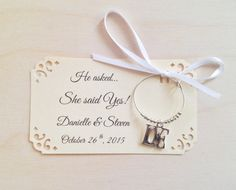 1 to 50 LOVE wine charm favors for She Said Yes! Bridal shower favor or perfect as a wedding favor for guests. Personalized for your event.