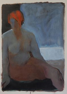 Redhead by Karen L Darling, via Flickr  acrylic, 22x30""