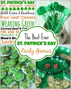This blog has all sorts of great party game ideas, free St. Patrick's Day printables, and other party ideas