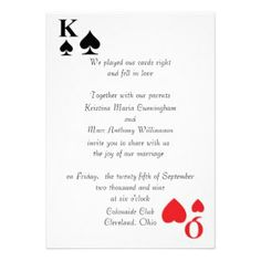 playing card invitation template | ... Of Hearts Invites, 89 King And Queen Of Hearts Invitation Templates