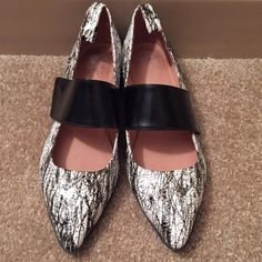 flash sale Jeffrey campbell x uo flats worn once! Velcro strap Jeffrey Campbell Shoes Flats & Loafers