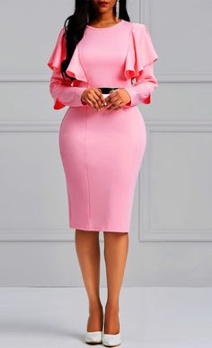 Bodycon Long Sleeves Women's Dress