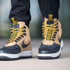 Take on winter's worst in the Nike Lunar Force 1 Duckboot. #Nike #boots #duckboot