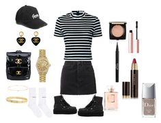"""""""up in this//blackbear & tinashe"""" by linaaahhbbyy ❤ liked on Polyvore featuring T By Alexander Wang, GUESS, Puma, Ksubi, Cartier, Rolex, Chanel, Hourglass Cosmetics, Too Faced Cosmetics and Stila"""