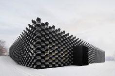 Façade made of chairs by Chybik + Kristof, Brno – Chech Republic » Retail Design Blog