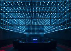 New São Paulo club The Year has a light installation that reacts to partygoers. Credit: Guto Requeno