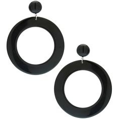 Black Plastic Hoop Earrings (£3.50) ❤ liked on Polyvore featuring jewelry, earrings, accessories, women, plastic earrings, earring jewelry, hoop earrings, plastic hoop earrings and plastic jewelry