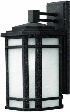 "0-013721>15""""h Cherry Creek 1-Light Outdoor Wall Lantern Vintage Black"