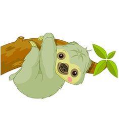 cartoon Sloth vector