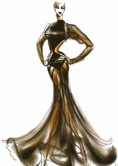 """1987 - Azzedine Alaia special creation for Naomi Campbell """"Tatoo dress"""" by Thierry Perez"""