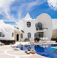 Strangest Vacation Rentals-The Seashell House-Isla Mujeres, Mexico