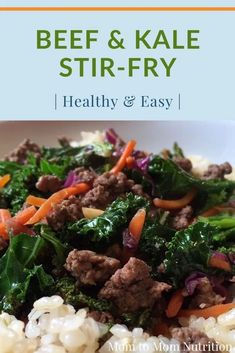 Ready in less than 30 minutes, this beef and kale stir-fry makes THE ideal nutritious and family-pleasing weeknight meal. Healthy Beef Recipes, Baby Food Recipes, Toddler Recipes, Keto Recipes, Kale Stir Fry, New Recipes For Dinner, Nutrition Articles, Healthy Eating, Healthy Lunches