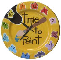 Time to Paint Clock....if I ever have an art studio/loft...this would be in it! <3