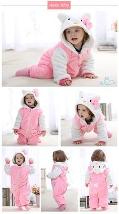 Baby Kigurumi Onesie Costume, Color - Hello Kitty