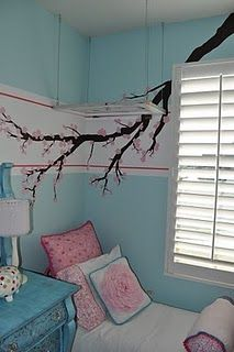Gorgeous girls' bedroom designed by their talented mom.