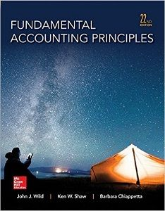 Fundamental Accounting Principles 22nd Edition Solutions Manual by Wild, Shaw, Chiappetta free download sample pdf - Solutions Manual, Answer Keys, Test Bank