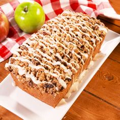 Apple Crisp Pound CakeA pound cake is perfect in it's own way and we love them year round. We dressed ours up to match the fall season with crisp apples and a buttery crumb topping that you'll want to put over everything. Drizzle the top with a simp Just Desserts, Delicious Desserts, Dessert Recipes, Yummy Food, Dessert Food, Sweet Desserts, Healthy Desserts, Brunch Recipes, Apple Recipes
