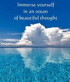 Immerse yourself in an ocean of beautiful thought... repinned by http://Abundance4me.com #thought