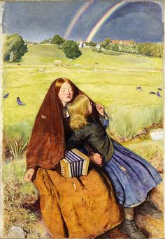 Millais began painting the landscape for The Blind Girl on a visit to Winchelsea in Sussex in 1854. It was not completed until two years later when the art...