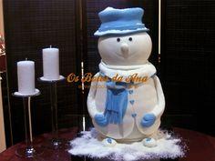 Snowman 3D Cake