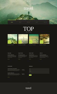 Travel Website Templates, Travel Website Design, Web Design Tips, Travel Design, Travel Agency Website, Website Themes, Website Ideas, Website Designs, Free Website