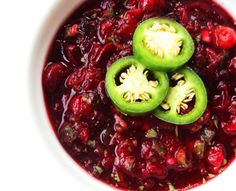 Cranberry Salsa- Use fresh orange juice and honey to keep the calories and sugar content down. Enjoy!