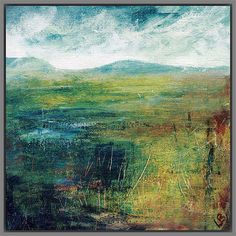 Buy Grey Framed Print Lesley Birch - Hill & Water, 40 x from our Pictures range at John Lewis & Partners. Contemporary Frames, Contemporary Landscape, Contemporary Paintings, Framing Canvas Art, Canvas Frame, Landscape Prints, Abstract Landscape, Abstract Art, Buy Art Online