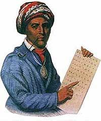 Sequoyah, the child of a Native American woman and a white settler, came up with the first Cherokee alphabet in the early 1800s. By 1821 the Cherokee Nation had officially recognized this form of writing and thousands of Cherokee became literate.