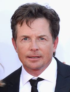 Actor Michael J. Fox arrives at the 64th Annual Primetime #Emmy Awards at Nokia Theatre L.A. Live.