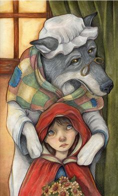 """Little Red Riding Hood"" Art by Diviant Art - Written by Charles Perrault"