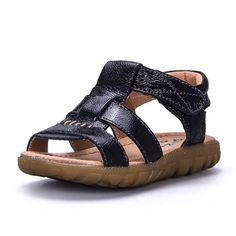 8175d30c88ebb Summer New Children genuine Leather Sandals Children Shoes Baby Boys Girls  Sandals Beach Sandals