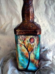 Recyceld Wine bottle Lamp by EarthScents on Etsy, $25.00
