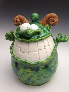 Design Quest - Claymonsters Pottery. Love this little guy!