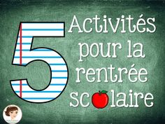la rentrée Communication Activities, Writing Activities, Teaching Resources, Teaching Ideas, 1st Day Of School, Back To School, French Flashcards, High School French, Core French