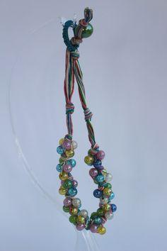 """Collana girocollo """"Primavera"""", nei deliziosi colori pastello rosa, bianco, verde, azzurro e giallo. di patrizianave su Etsy"""