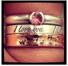 Tiffany stacked rings