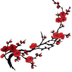 Sewing Fabric Flowers Plum Blossom Flower Applique Clothing Embroidery Patch Fabric Sticker Iron On Patch Sewing Repair - Rose Applique, Applique Fabric, Fabric Patch, Embroidery Patches, Embroidery Applique, Embroidery Designs, Cherry Blossom Flowers, Blossom Trees, Iron On Fabric