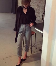 Ever chic Fashion Editor at Costume Denmark #JeanetteFriisMadsen is wearing #Pieszak May Blouse in 100% Silk. Style it with some cool jeans like Jeanette and you are good to go!