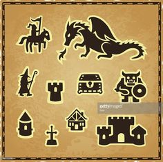 Vector Art : Fantasy Map Icons