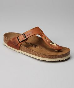 Take a look at this Antique Brown Studs & Stitches Gizeh Sandal  by Tatami by Birkenstock