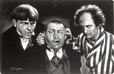 The Three Stooges, oil painting.
