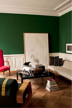 Guy & Ruth Art Collector  Zürich/Switzerland  Thinking about incorporating this green into my future home.