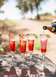 Bel Fiore - Sparkling Wine Cocktail With Hibiscus Flower http://snippetandink.com/bel-fiore/