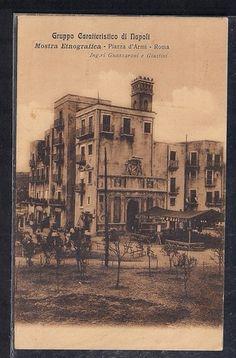 Cartolina Roma Piazza Armi Mostra Etnografica 1911 Gruppo Caratteristico Napoli