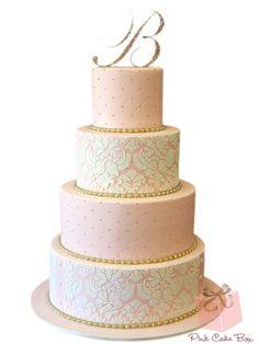 25 Lace Wedding Cake Ideas